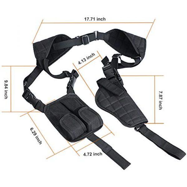 TW TWOD  4 Twod Concealed Carry Shoulder Holster Nylon Cross Harness Vertical Shoulder Holster Adjustable for Most Handguns or Pistol
