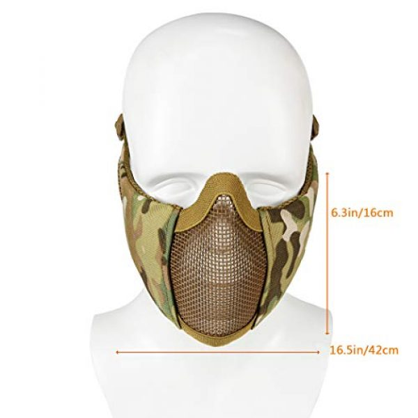 Aoutacc Airsoft Mask 3 Foldable Airsoft Mesh Mask