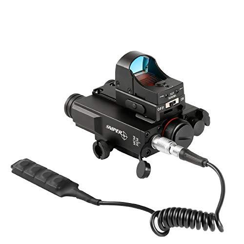 Sniper Airsoft Gun Sight 5 Sniper FL2000R Green Laser Sight with LED Flashlight Combo W/Red Dot Reflex Sight