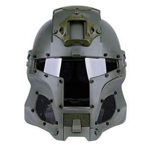 Brave outdoor Airsoft Helmet 1 Tactical Helmet Protection Fast Helmet Full Face Mesh Goggles for Airgun Paintball Mask CS Outdoor Activities Military Movie