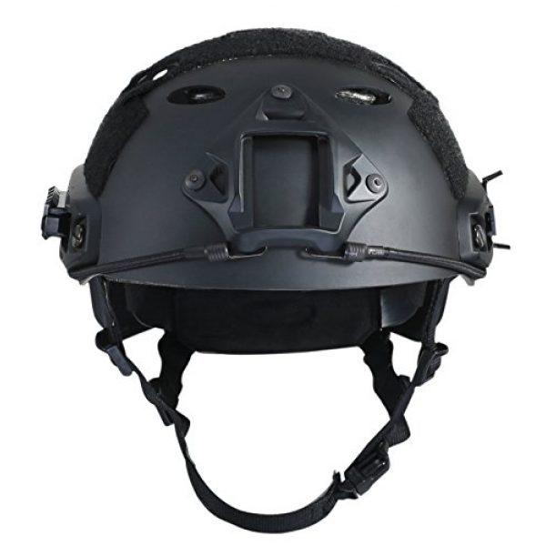 iMeshbean Airsoft Helmet 3 iMeshbean PJ Type Tactical Multifunctional Fast Helmet with Visor Goggles Version Black (Black)