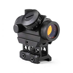 Pinty Airsoft Gun Sight 1 Pinty 1x25mm Tactical Red Dot Sight 3-4 MOA Compact Red Dot Scope 1 Riser Mount for Cowitness with Iron Sights Waterproof and Shockproof Scratch Resistant Amber Lens