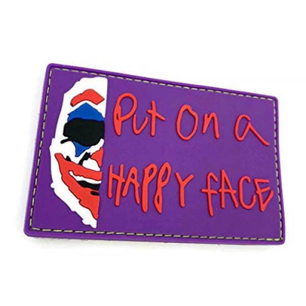 Bitway Tactical Airsoft Morale Patch 2 Bitway Tactical Joker Put on a Happy Face PVC Hook-Backed Morale Patch