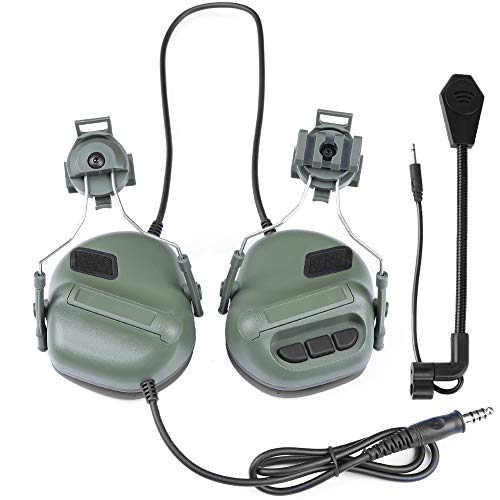 ATAIRSOFT Airsoft Helmet 1 ATAIRSOFT Tactical Headset war Unlimited Power intercom with Microphone Waterproof Headphones