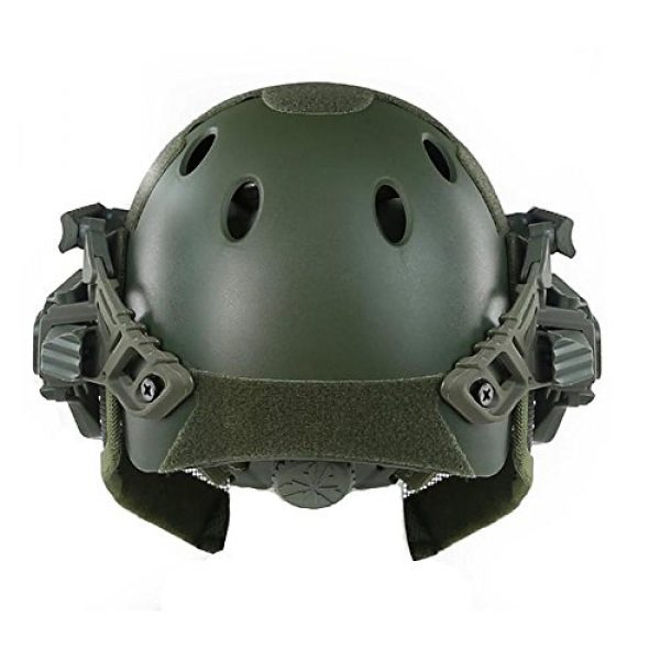 iMeshbean Airsoft Helmet 3 iMeshbean Fast Tactical Helmet Combined with Full Mask and Goggles for Airsoft Paintball CS and Other Outdoor Activities Free Size