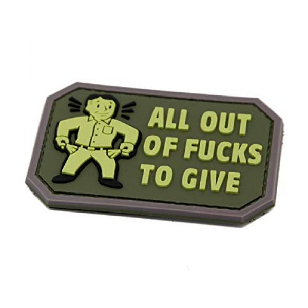 NEO Tactical Gear Airsoft Patch 2 NEO Tactical Gear All Out of Fucks to Give PVC Rubber Morale Patch - Military and Airsoft Offensive Funny Morale Patch Hook Backed