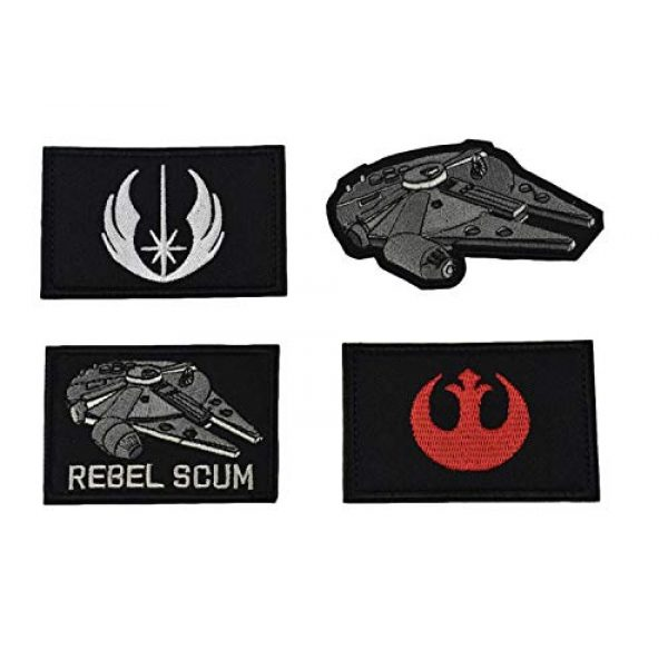JFFCE Airsoft Morale Patch 1 Star Wars Military Morale Patches Tactical Airsoft Paintball Applique Fastener Patch for Hats Caps Bags Jackets Backpack (Star Wars 4PC)