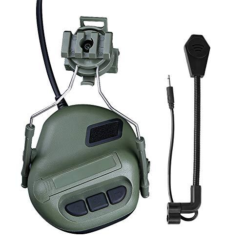 ATAIRSOFT Airsoft Helmet 3 ATAIRSOFT Tactical Headset war Unlimited Power intercom with Microphone Waterproof Headphones