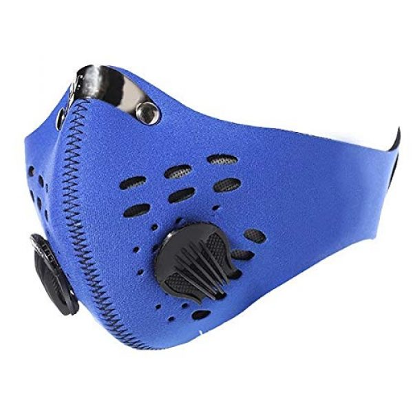 ZLM BAG US Airsoft Mask 6 ZLM BAG US Unisex Dustproof Breathable Valve Velcro Mouth Cover Half Face Mask for Outdoors Cycling Travel
