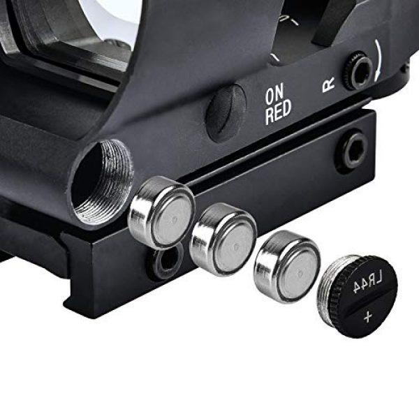 EZshoot Airsoft Gun Sight 5 EZshoot Reflex Sight 4 Reticles Green and Red Dot Sight with 45 Degree Rail Mount