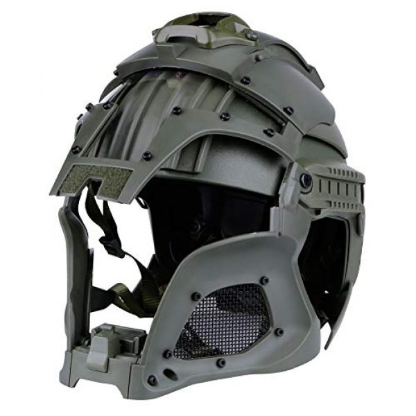 Brave outdoor Airsoft Helmet 6 Tactical Helmet Protection Fast Helmet Full Face Mesh Goggles for Airgun Paintball Mask CS Outdoor Activities Military Movie