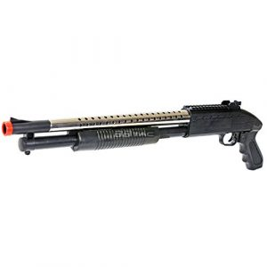 BBTac  1 bbtac airsoft shotgun pump action (starter shotgun series) - pistol grip airsoft shotgun - high bb capacity - 300 fps+ w/ 6mm 0.12g bbs with bbtac warranty & tech support(Airsoft Gun)