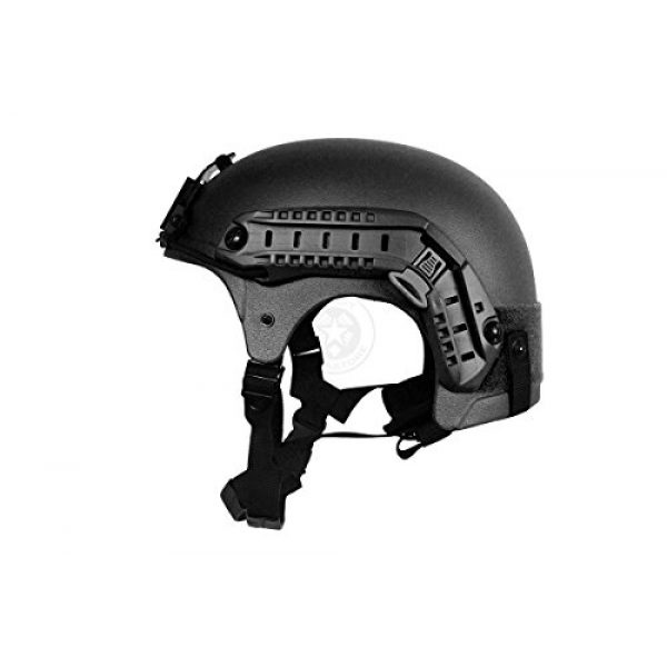 G-Force Tactical IBH Airsoft Helmet 2 G-Force Tactical IBH Airsoft Helmet w/ NVG Shroud & Side Rails - BLACK