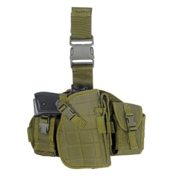 Lancer Tactical  1 Lancer Tactical CA-324 MOLLE Platform Drop Leg Airsoft Gun Holster (Green)