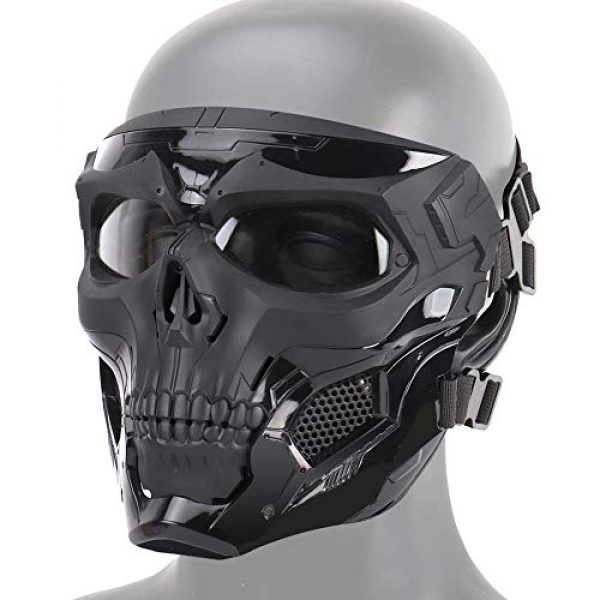 Dumcuw Airsoft Mask 1 Dumcuw Halloween Skeleton Airsoft Mask