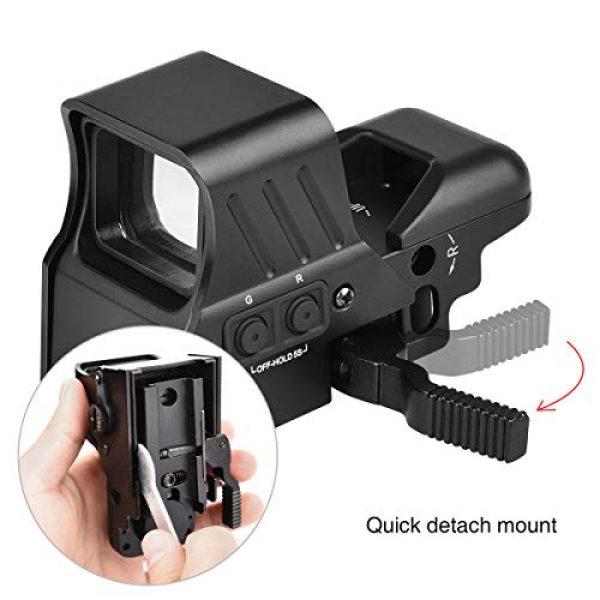 MidTen Airsoft Gun Sight 3 MidTen 1X22X32 Red Green Dot Sight 4 Reticles Reflex Sight Quick Detach Mount 20mm Rail