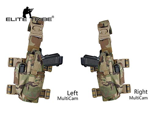 Elite Tribe  1 Elite Tribe Airsoft Hunting Pistol Holster Tactical Tornado Universal Tactical Thigh Holster Multicam