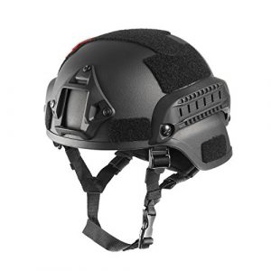 OneTigris Airsoft Helmet 1 OneTigris MICH 2000 Style ACH Tactical Helmet with NVG Mount and Side Rail