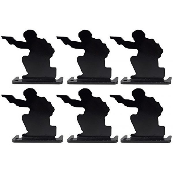 SportPro Airsoft Target 1 SportPro Full Steel Soldier Shooting Targets Type A 6 pcs for AEG GBB Airsoft Black