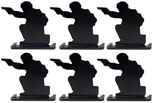 SportPro Airsoft Target 1 SportPro Full Steel Soldier Shooting Targets Type A 6 pcs for AEG GBB Airsoft Black