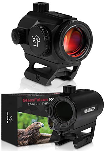CREATIVE XP Airsoft Gun Sight 1 CREATIVE XP CreativeXP HD Red Dot Sight 3 MOA Tactical Reflex Sight for Day & Night Time Easy to Zero on a Rifle - Picatinny Rail Mount