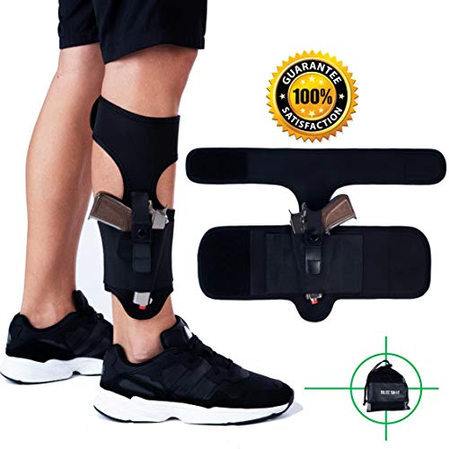 BlitzShot Ankle Holster  1 Ankle Holster for Concealed Carry Universal Ankle Holster for Men and Women 2xStronger Velcro Adjustable Ankle Holster for Glock 43 42 36 26 19