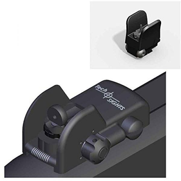 """Tech SIGHT Airsoft Gun Sight 1 Tech SIGHT TSR200RL Adjustable Aperture Sight for The Ruger 10/22 Rifle with a 3/8"""" Rail"""