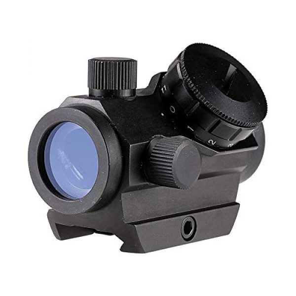 Pinty Airsoft Gun Sight 3 Pinty 1x25mm Tactical Red Dot Sight 3-4 MOA Compact Red Dot Scope 1 Riser Mount for Cowitness with Iron Sights Waterproof and Shockproof Scratch Resistant Amber Lens