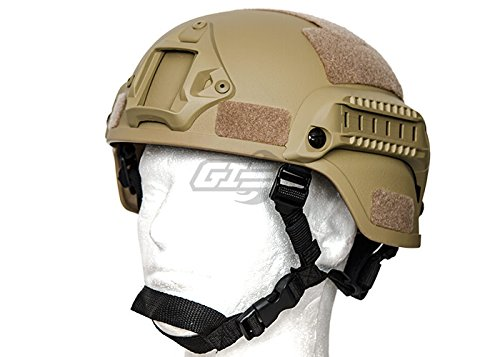 Lancer Tactical Airsoft Helmet 1 Lancer Tactical MICH 2000 SF Helmet (Tan)