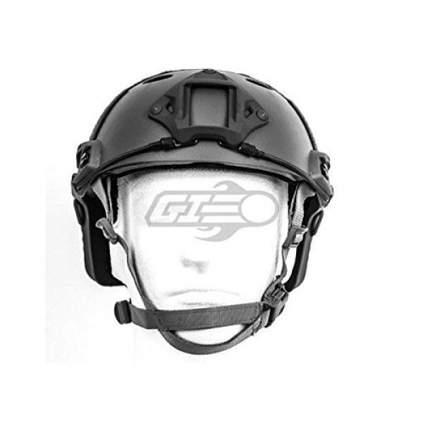 Lancer Tactical Airsoft Helmet 2 Lancer Tactical Airsoft Tactical PJ Type Helmet LRG/XL - Black