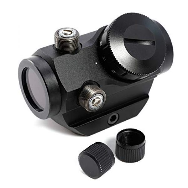 Pinty Airsoft Gun Sight 2 Pinty Tactical 3-4 MOA Red Dot Sight Scope with 3X Magnifier Combo