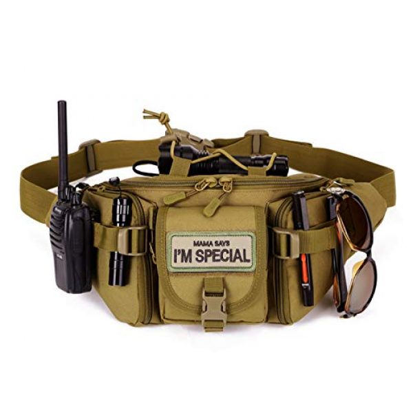 """Ehope Airsoft Patch 4 Ehope Mama Says I'm Special Patch Tactical Morale Military Patches Funny Embroidered Fastener Hook and Loop Patches 3.54"""" x 1.57""""(I'm Special-Multitan)"""