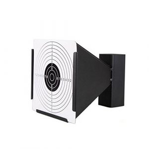 Guyuyii Airsoft Target 1 Guyuyii 14cm Steel Target Holder + 100 Targets air Rifle Pelet Trap Shooting Airsoft