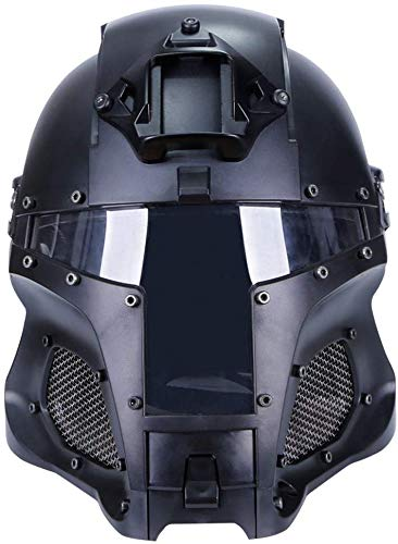 Hunting Explorer Airsoft Helmet 2 Hunting Explorer Tactical Military Ballistic Helmet Side Rail NVG Shroud Transfer Base Sports Army Combat Airsoft Paintball Full Face Mask Helmet Protective Gear
