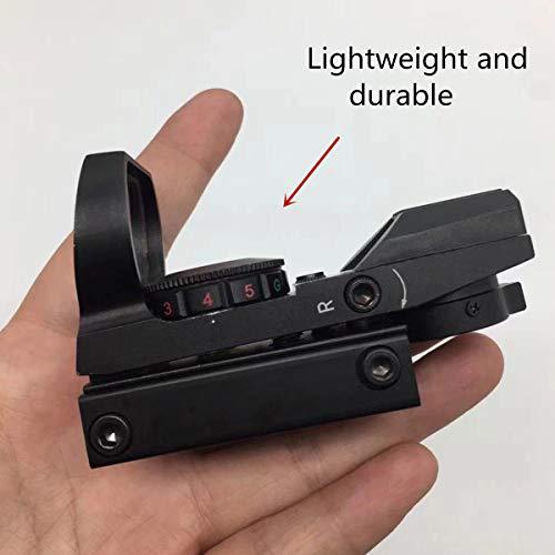 SabreTAC Airsoft Gun Sight 3 SabreTAC 4 Reticles Reflex Red Green Dot Sight 33mm Built in Picatinny Rail Mount for Airsoft
