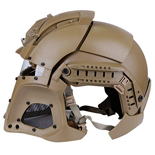 LEJUNJIE Airsoft Helmet 4 LEJUNJIE Tactical Military Ballistic Helmet Side Rail NVG Shroud Transfer Base Army Combat Airsoft Paintball Full Face Mask Helmet