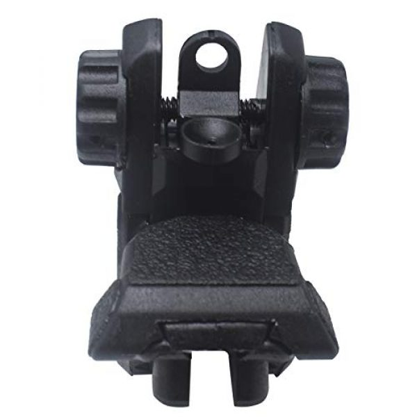 AWOTAC Airsoft Gun Sight 3 AWOTAC Polymer Black Flip-up Front and Rear Sight Fit Picatinny Weaver Rails