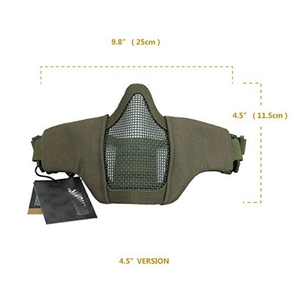 """OneTigris Airsoft Mask 7 OneTigris 4.5"""" Tactical Foldable Half Face Mask Protective Mesh Mask Fit Women & Teenagers"""