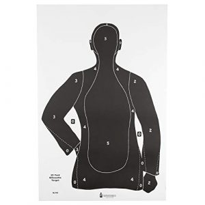 Action Targets Airsoft Target 1 Law Enforcement Targets B-21E Economy 25 Yard Silhouette Target 23x35 Inch Black 100 Per