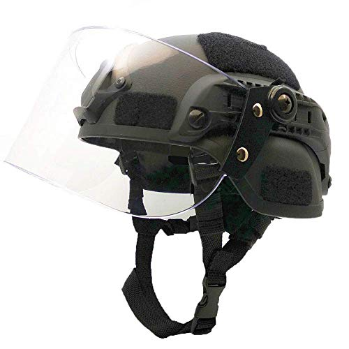 Tactical Area Airsoft Helmet 1 Tactical Area Airsoft Mich 2000 Quick Helmet with NVG Bracket and Goggles.