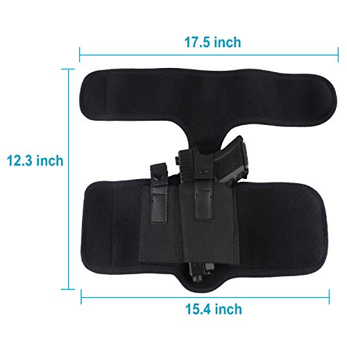 Phrmovs  2 Phrmovs Ankle Holster for Concealed Carry Universal Leg Carry Pistols with Magazine Pocket for Glock 19 26 36 42 43