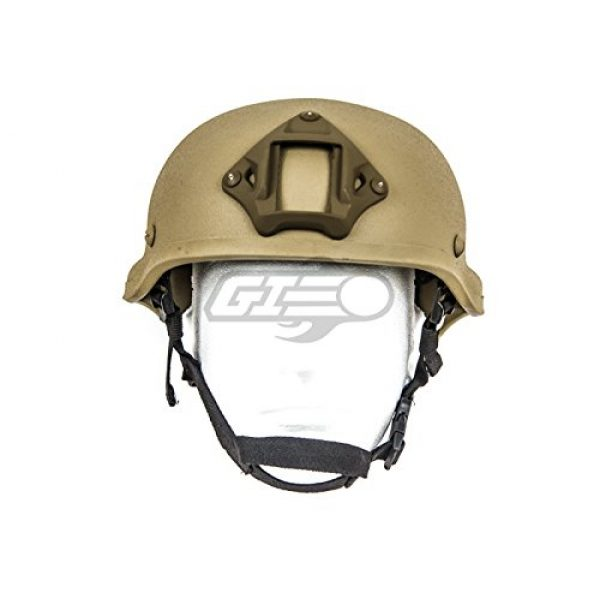 Lancer Tactical Airsoft Helmet 2 Lancer Tactical CA-727 MICH 2002 Safety Airsoft Helmet w/ NVG Mount (Tan)