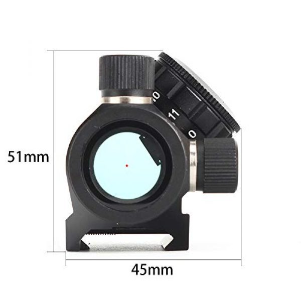 ohhunt Airsoft Gun Sight 6 ohhunt 1X25mm 3 MOA Red Dot Sight Low Power Compact Red Dot Scope 20mm Weaver Picatinny Mount