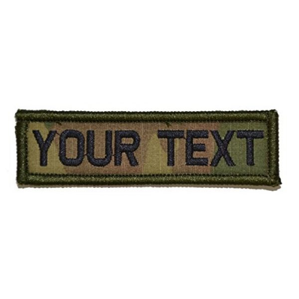Tactical Gear Junkie Airsoft Patch 1 Customizable Text 1x3 Patch w/Hook Fastener Morale Patch - Multicam