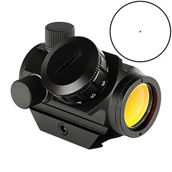 ohhunt Airsoft Gun Sight 2 ohhunt 1X25mm 3 MOA Red Dot Sight Low Power Compact Red Dot Scope 20mm Weaver Picatinny Mount