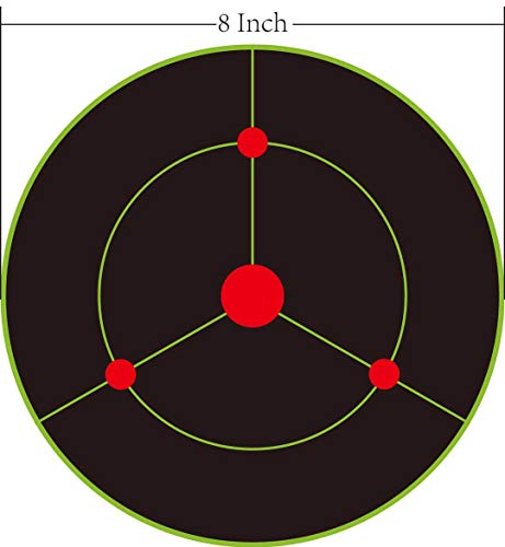 iFymei Airsoft Target 2 iFymei Shooting Targets Splatter Targets for Shooting Self Adhesive Reactive Paper Targets - 8 inch 100 & 50 & 20 Pack Great for Gun Rifle Pistol Bb Gun Airsoft Pellet Gun Air Rifle