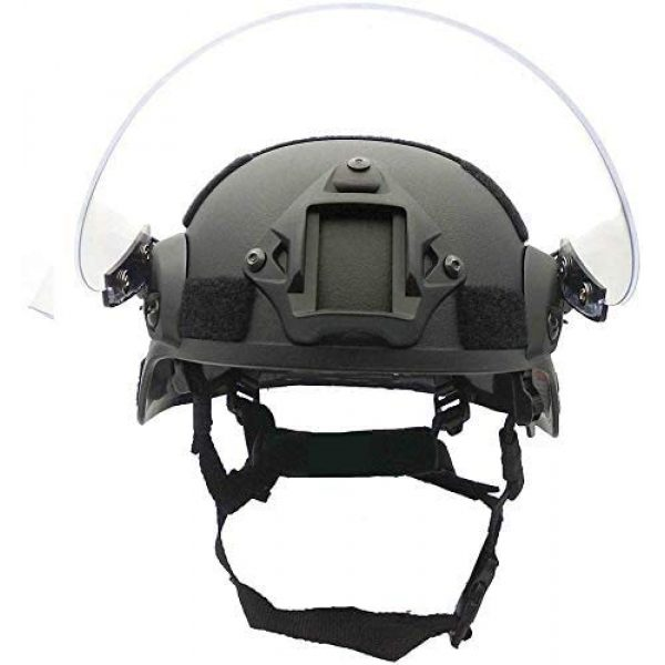 LEJUNJIE Airsoft Helmet 2 LEJUNJIE Tactical MICH 2000 Fast Helmet with Clear Riot Visor Face Shield Sliding Goggles for Airsoft Paintball CS War Games Outdoor Sports.