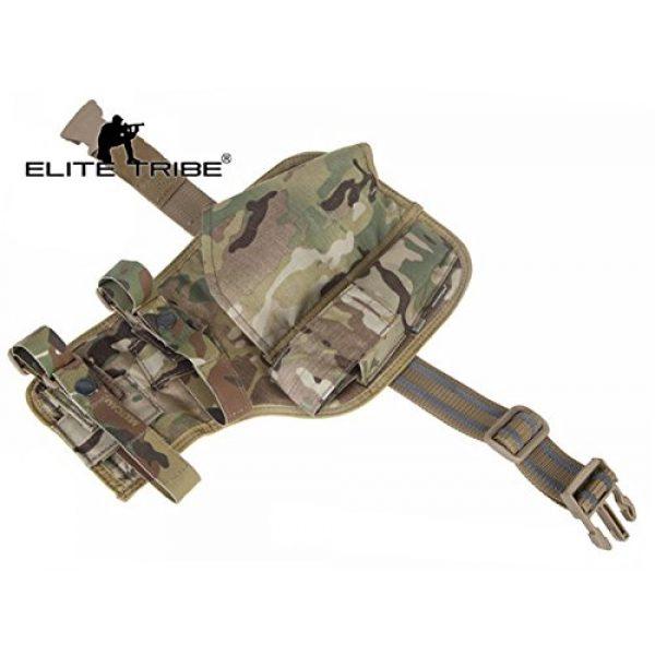 Elite Tribe  3 Elite Tribe MP7 Tactical Leg Holster Shooting Pistol Drop Pouch Multicam Camo Gun Holder Left Right Hand