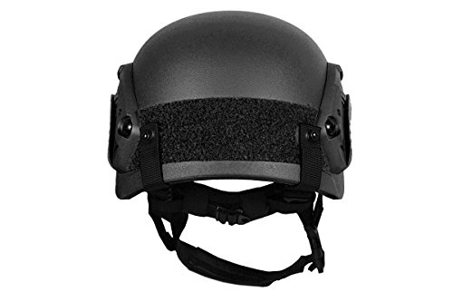 G-Force Tactical IBH Airsoft Helmet 5 G-Force Tactical IBH Airsoft Helmet w/ NVG Shroud & Side Rails - BLACK