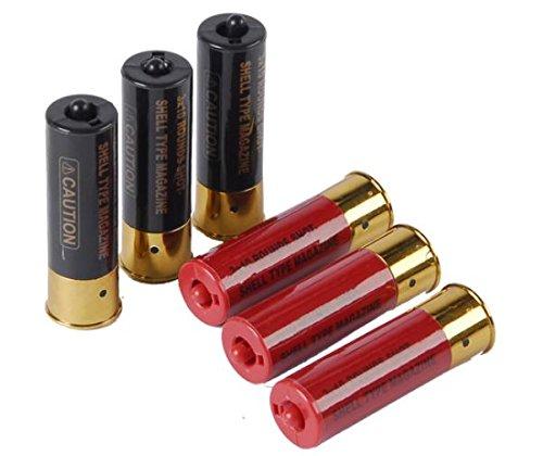 DE  1 Airsoft Shotgun Shells 6-pack with holder for Double Eagle M56 Series Spring Shotguns